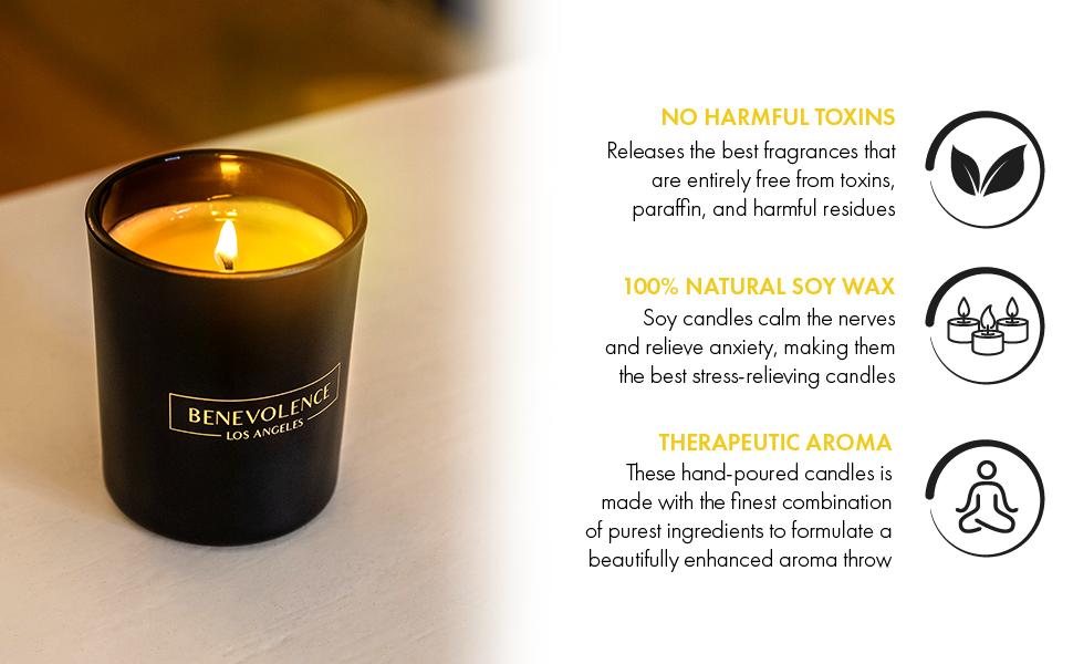 Bergamot Rosewood Candle Bergamot Candle Highly Scented Odor Eliminating Eco friendly candles