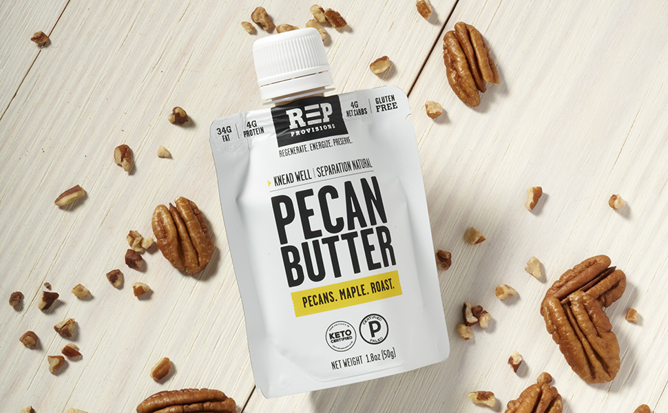 REP PROVISIONS NUT BUTTER PECAN BUTTER KETO PALEO TRAVEL FOOD