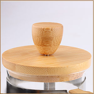 SMALL FRENCH COFFEE PRESS BAMBOO