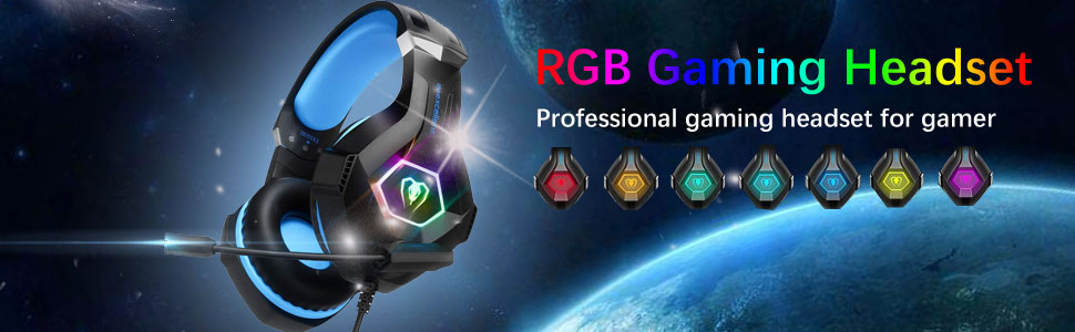 2019 Latest Model Pro RGB gaming headset professional gaming headset for gamer