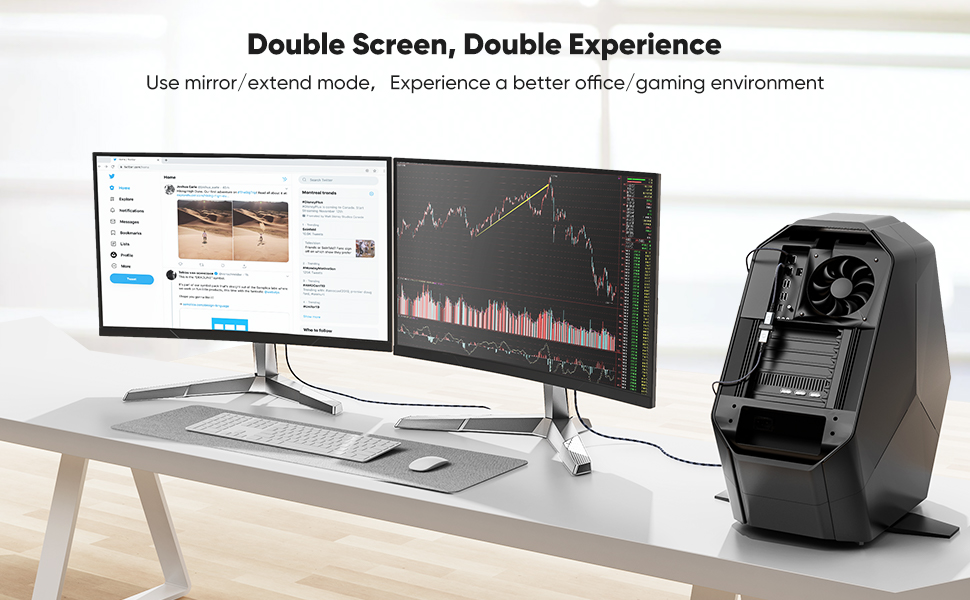 Duouble screen, Double Experience