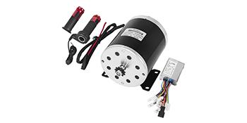 Mophorn Motor El/éctrico 500W Motor de Escobillas de CC de Im/án Permanente 24V 2500 RPM con Interruptor de Inversi/ón y Control de Velocidad