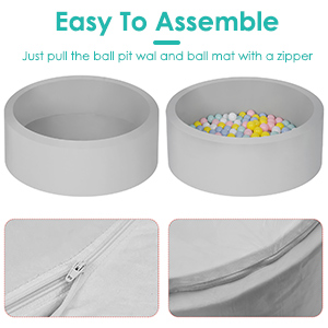 Easy to assemble ball pool