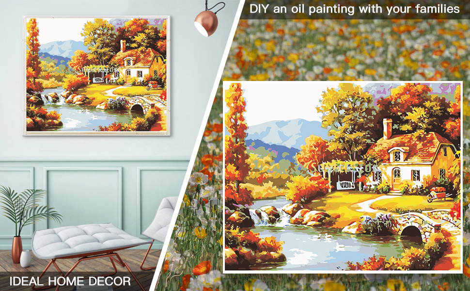 Holding Coffee Paint By Numbers For Adults Beautiful Acrylic Sitting Woman Painting On Canvas Hands Paint By Your Own DIY Kit Oil Autumn Leaves Wall Art Decoration