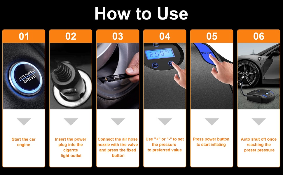 0abff435 7080 4698 aa90 fdd5327b3d71. CR0,0,970,600 PT0 SX970 V1 - Air Compressor Tire Inflator,UMUM 12V 150PSI Portable Air Pump for Car Tires,Auto Tire Pump with Emergency Led Lighting and Long Cable for Car,Bicycle,Motorcycle,Ball,Inflatable Pool and others