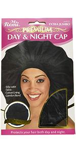 hair cap bonnet black