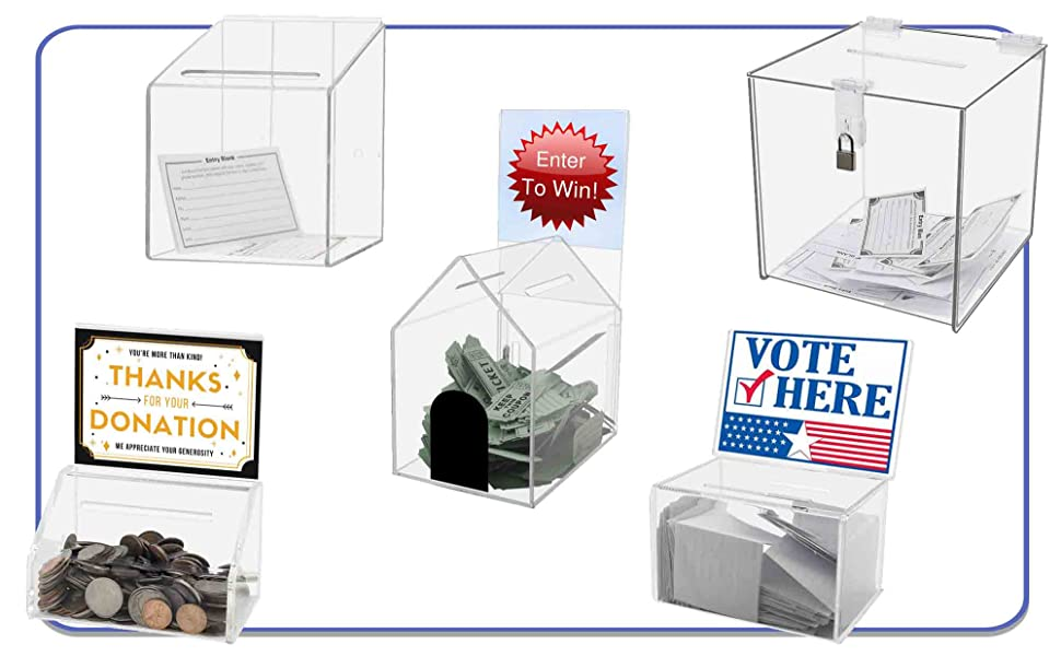 Marketing Holders Ballot Boxes and Blank Forms