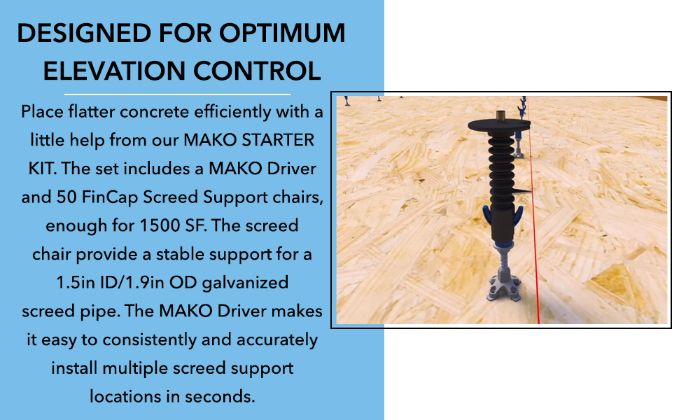 Our Mako Driver are designed for optimum elevation