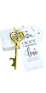 heart bottle opener favors wedding escort tags crown decorations for wedding tag decoration