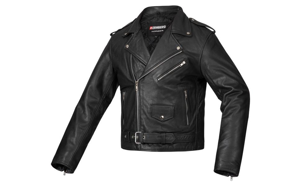 Bohmberg Premium- Chaqueta pesada de motociclista 100% cuero duradero para hombre - M: Amazon.es: Coche y moto