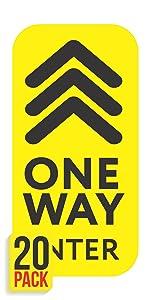 One Way Floor Decals