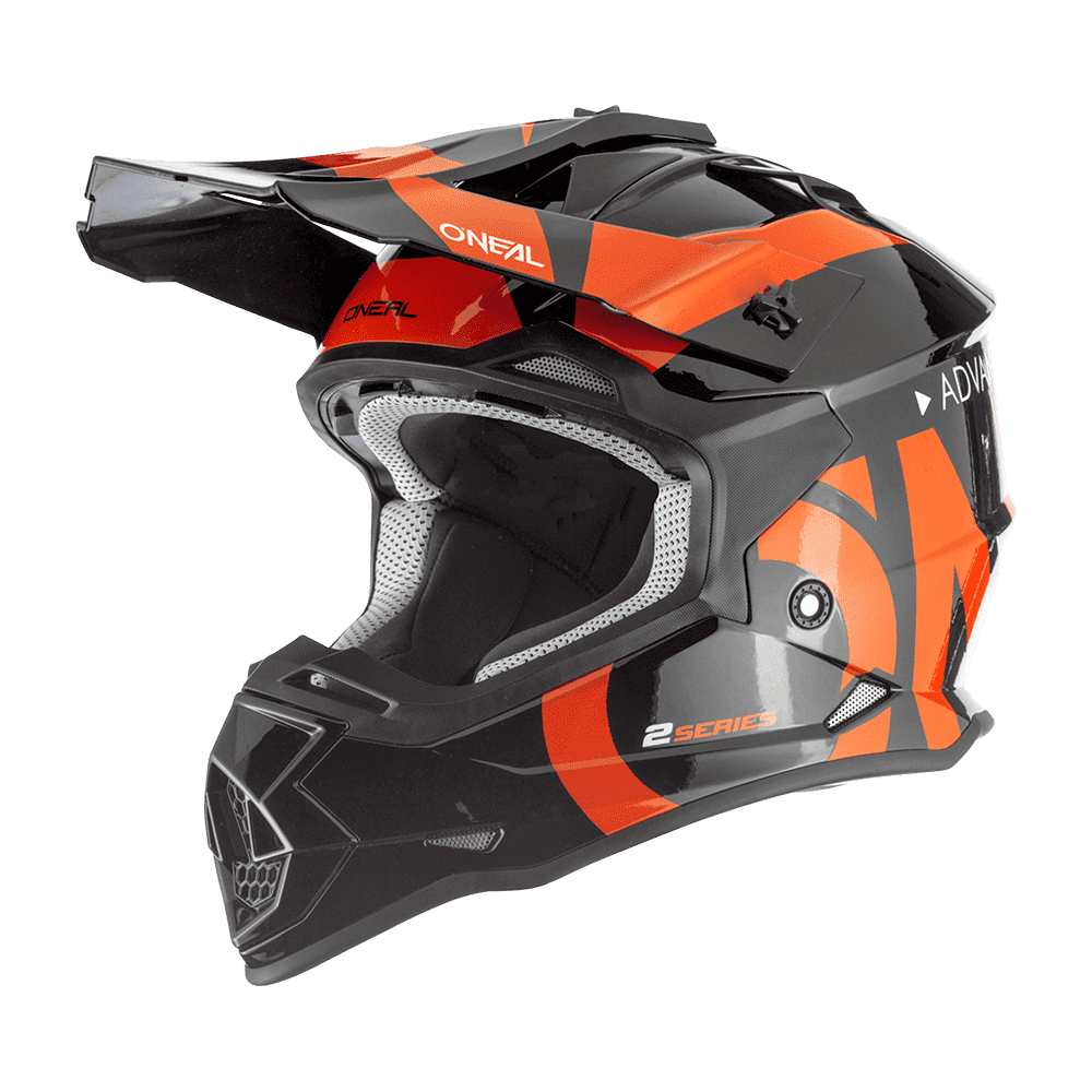 O Neal Motocross Helm Mx Enduro Abs Schale Sicherheitsnorm Ece 22 05 Lüftungsöffnungen Für Optimale Belüftung Kühlung 2srs Helmet Slick Erwachsene Schwarz Grau Größe L Auto