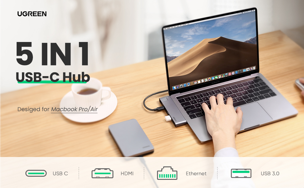 UGREEN 5 IN 1 USB C Hub