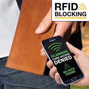 rfid rdif rfdi blocking shield against theft anti theft wallet for men