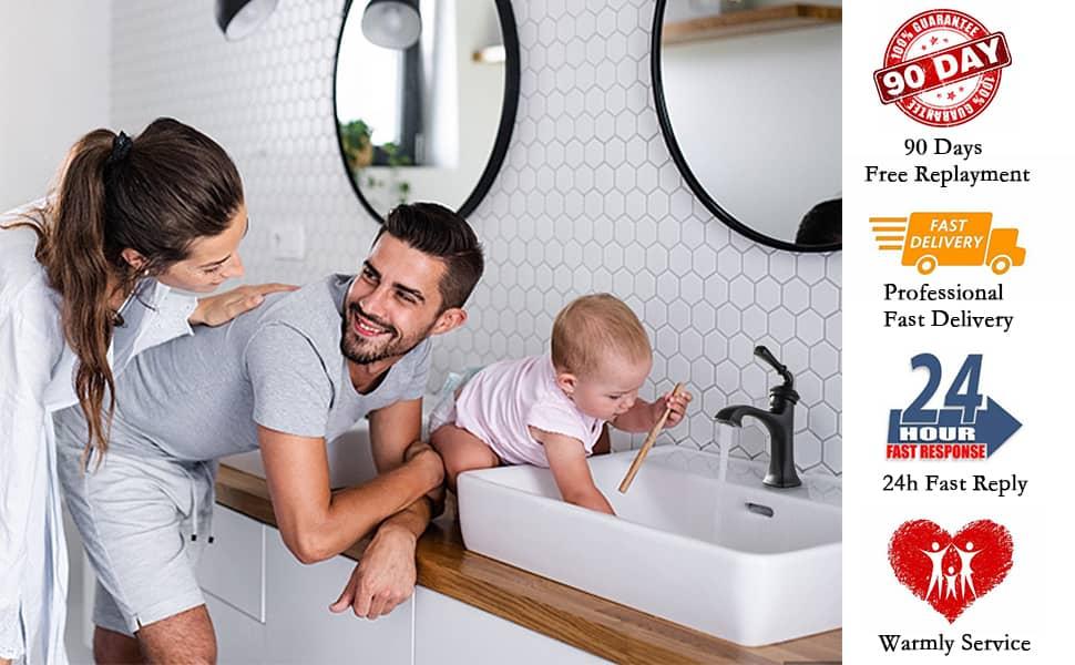 bathroom sink faucet black single hole