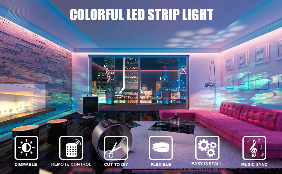 color changing led strip lights