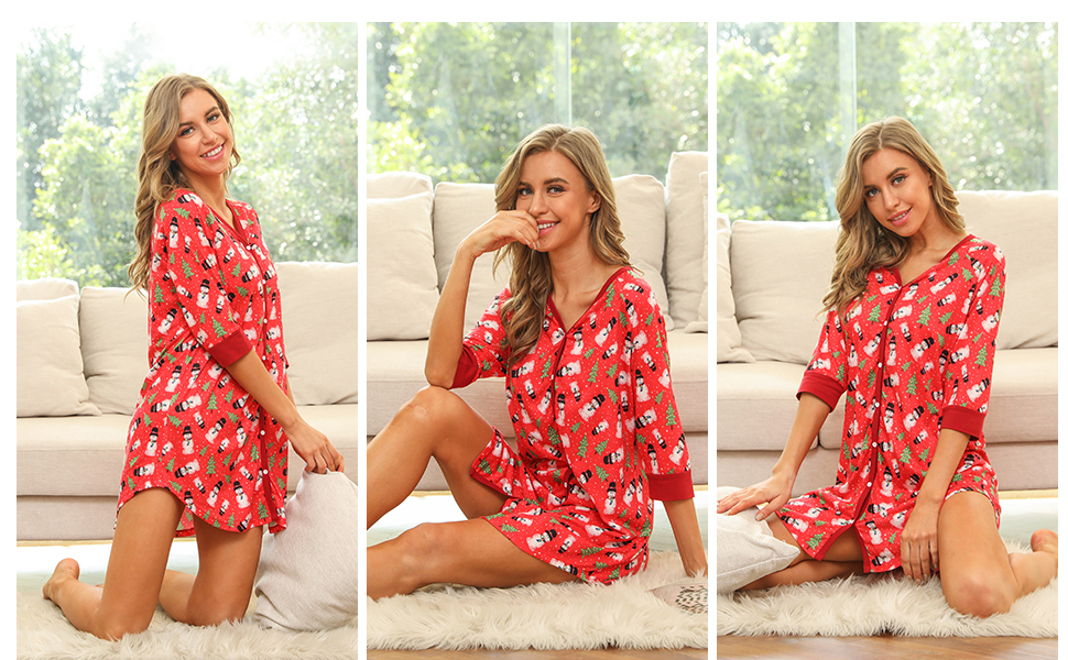 red nightgown