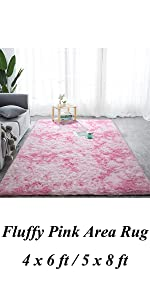 pink girl room rug