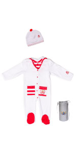 Sleep N Play Pajama, footie, baby gown, organic baby, sleeper, Gloved-Sleeve Footed, Royal Baby,