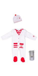 Sleep N Play Pajama, footie, baby gown, organic baby, sleeper, Gloved-Sleeve Footed, Royal Baby,