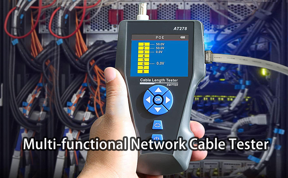 Multi-functional Network Cable Tester with TDR