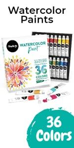 Watercolor Paint Set - Pack of 36 Colors