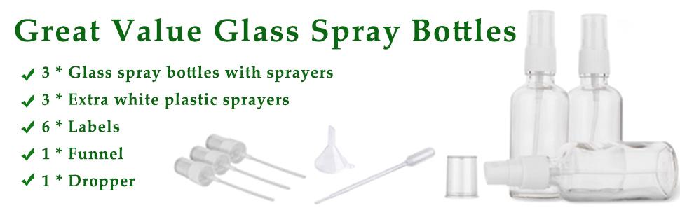 glass spray bottles,great value spray bottles,glass spray bottles with sprayers,plastic sprayers