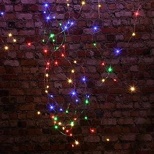 Komak LED Solar String Lights Outdoor 72ft 200 LED Solar Powered String Fairy