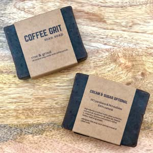 MAN GIFT BOX SOAP FOR HIM COFFEE GRIT ALL NATURAL SOAP