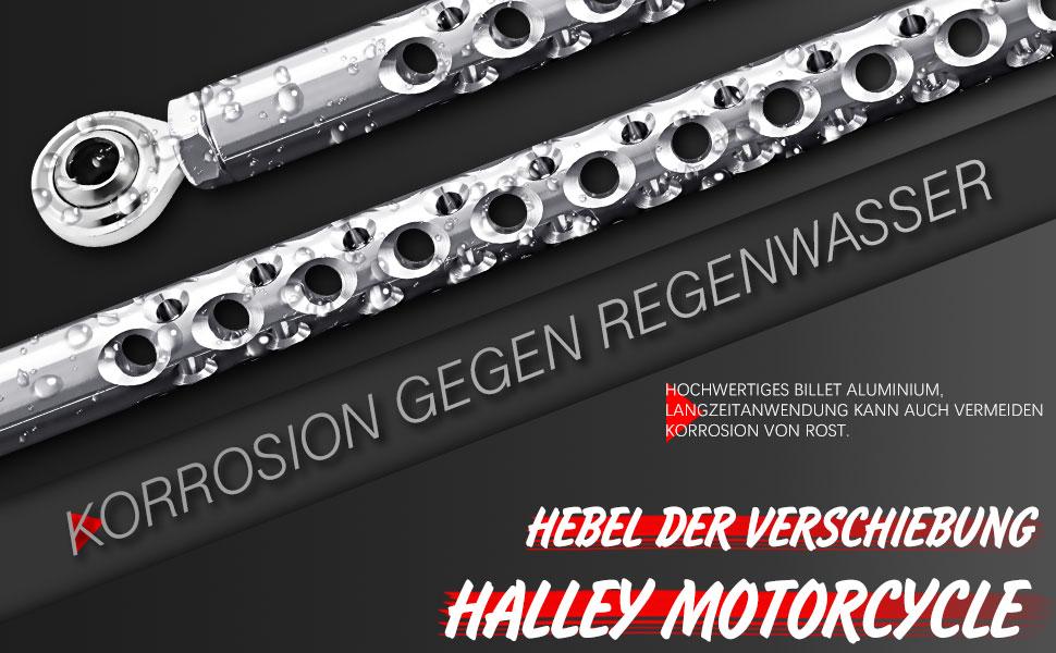 Smadmoto CNC Aluminium Motorrad Schalthebel Schaltarm f/ür Harley Davidson Dyna Street Bob Super Wide Glide 1991-2017