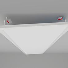 36W OUBO LED Panel 62x62 Deckenleuchte Neutralwei/ß 4000K Einlegeleuchte B/ürolampe f/ür Odenwalddecke Silberrahmen Rasterleuchten