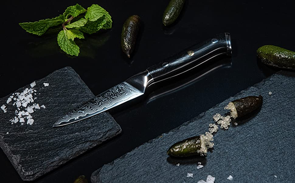 oxford chef damascus steel japanese paring knife