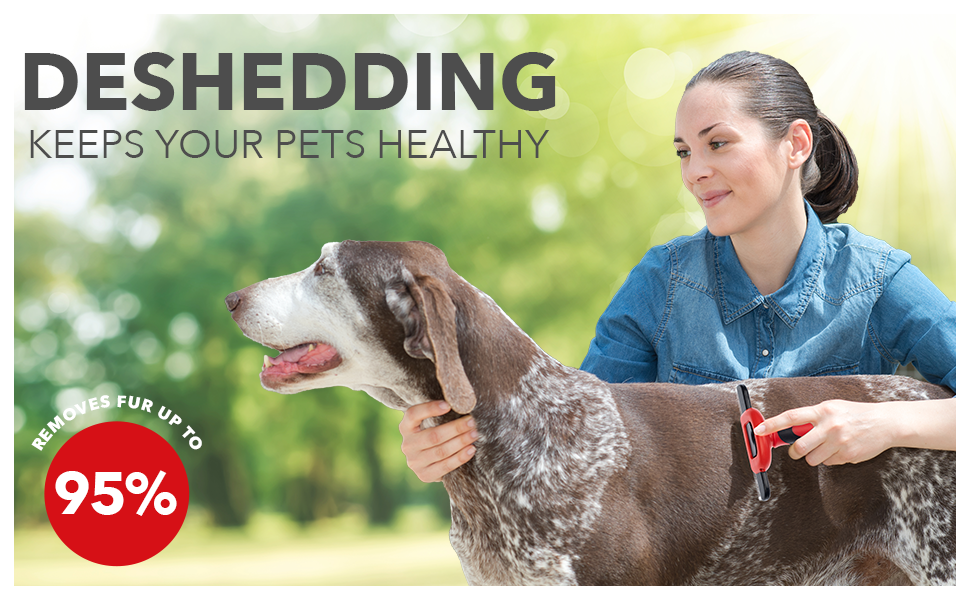 Deshedding up to 95% fur; Keeps your pets healthy