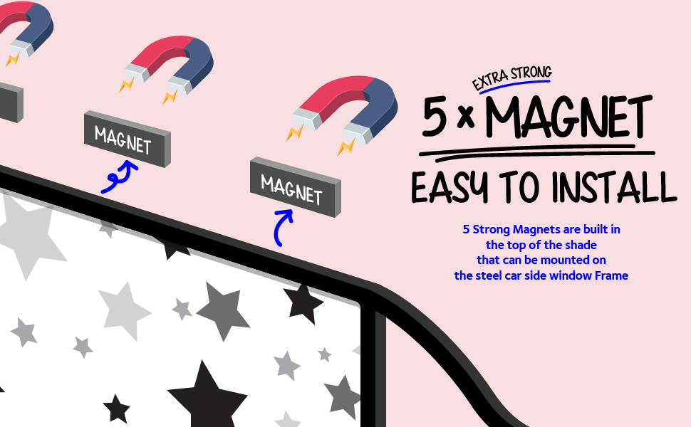 5 strong magnets easy to install