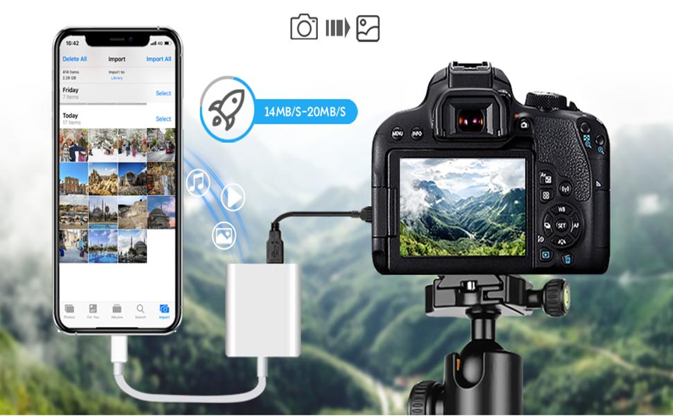 Apple Lightning USB3.0 to Camera Adapter MFi Certified