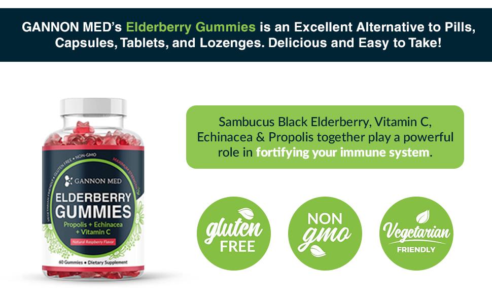 sambucus herbal booster system booster support adults men women vegan lozenges black gummy candy