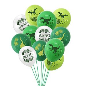 12pcs Latex Dinosaur Balloons