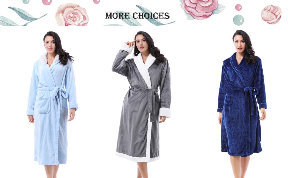 women long bathrobe