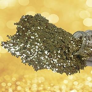 stubby champagne gold glitter splash
