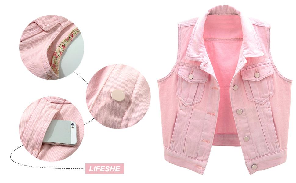 women's denim vest