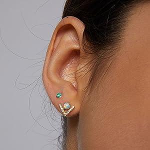 gold earrings for women girls