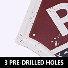 3 pre-drilled holes