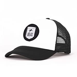 Oblack Gorra Trucker Gray Portland Gris Beisbol Ajustable con Visera Acolchada y Rejilla Negra - Gorras de Hombre: Amazon.es: Ropa y accesorios
