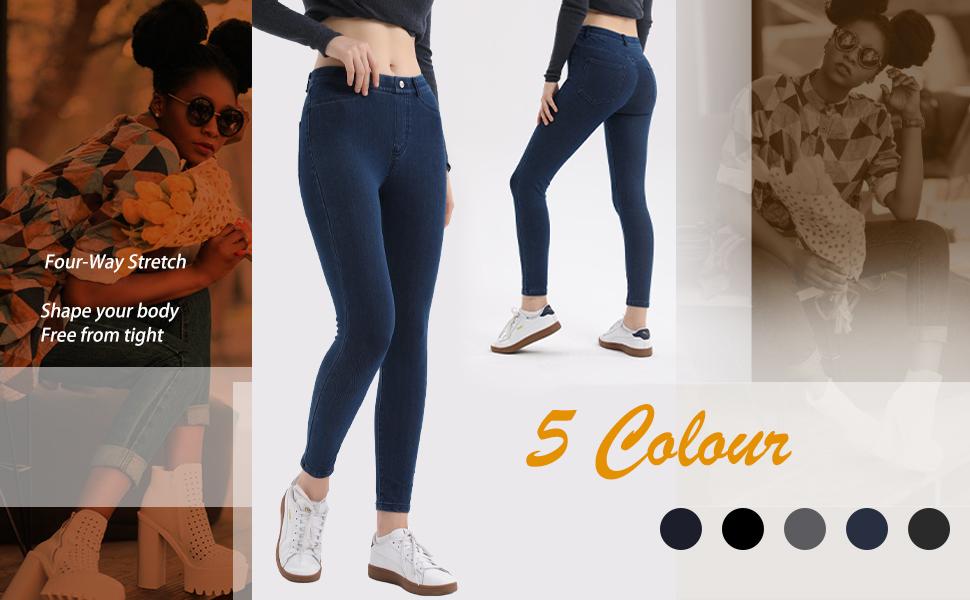 Four way stretch jean legging
