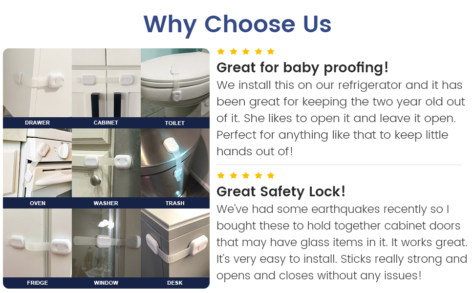 Cabinet locks for babies