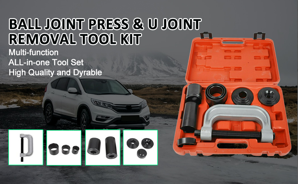 Heavy Duty Ball Joint Press amp;U Joint Removal Tools 4 Wheel Drive Adaptors 4 in 1