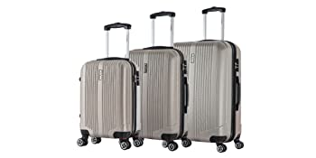 luggage set charcoal silver grey wine