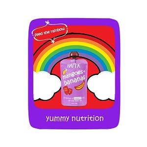 Happa Organic Baby Food, Fruit Puree Apple, Mango and multigrain, Stage 3, 8 Months + , 100 Grams