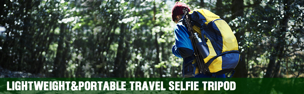 travel selfie stick tripod light and portable tripod for phone and camera