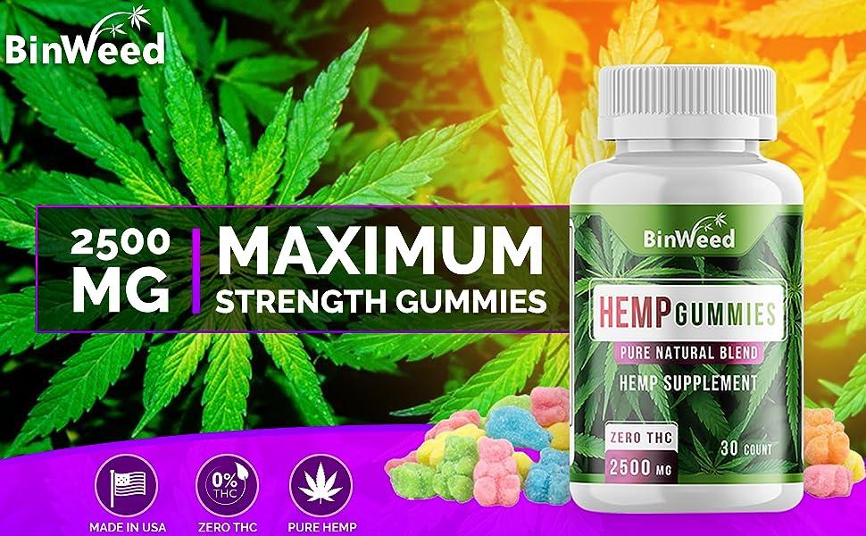 2500 mg 2500mg maximum strength gummies sour gelatin free gluten free